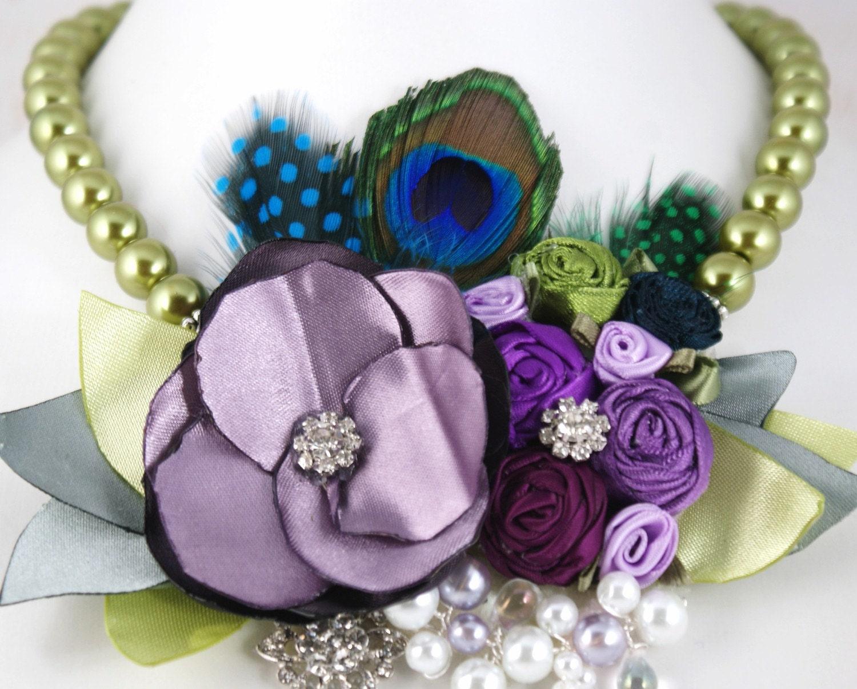 украшения из тканевых цветов Il_570xN.203682609