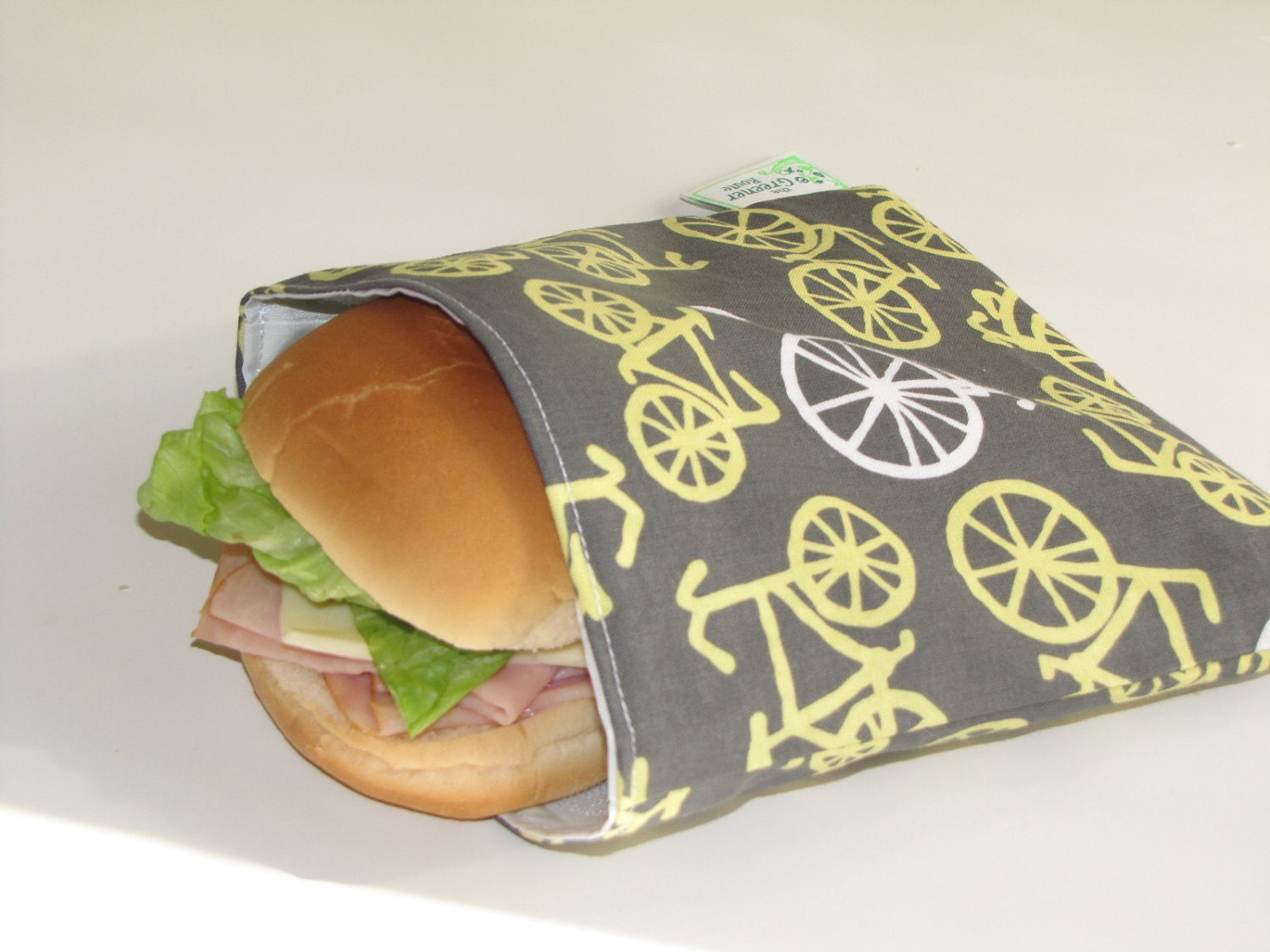 Reusable Sandwich Bag - Bikes