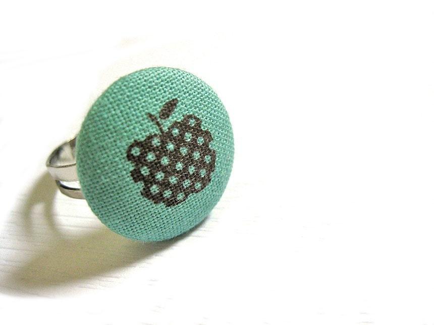 Ткань Крытые Кнопка Кольцо - Apple