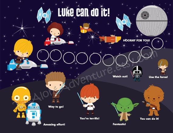 PRINTABLE PERSONALIZED Incentive / Reward Chart for Children - Star ...