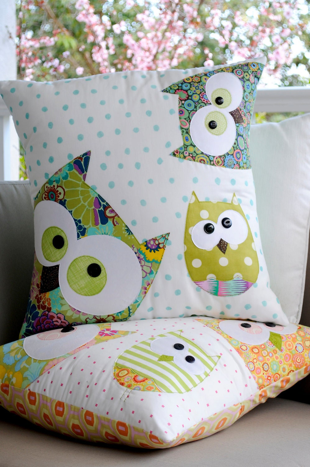 A Family of Owls Applique Cushion Pattern