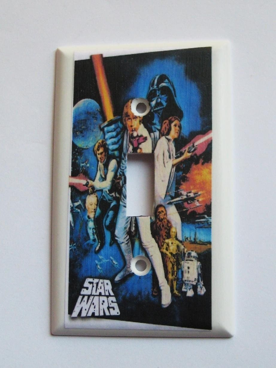 Star Wars Light Switch Plate By Sewdandee On Etsy