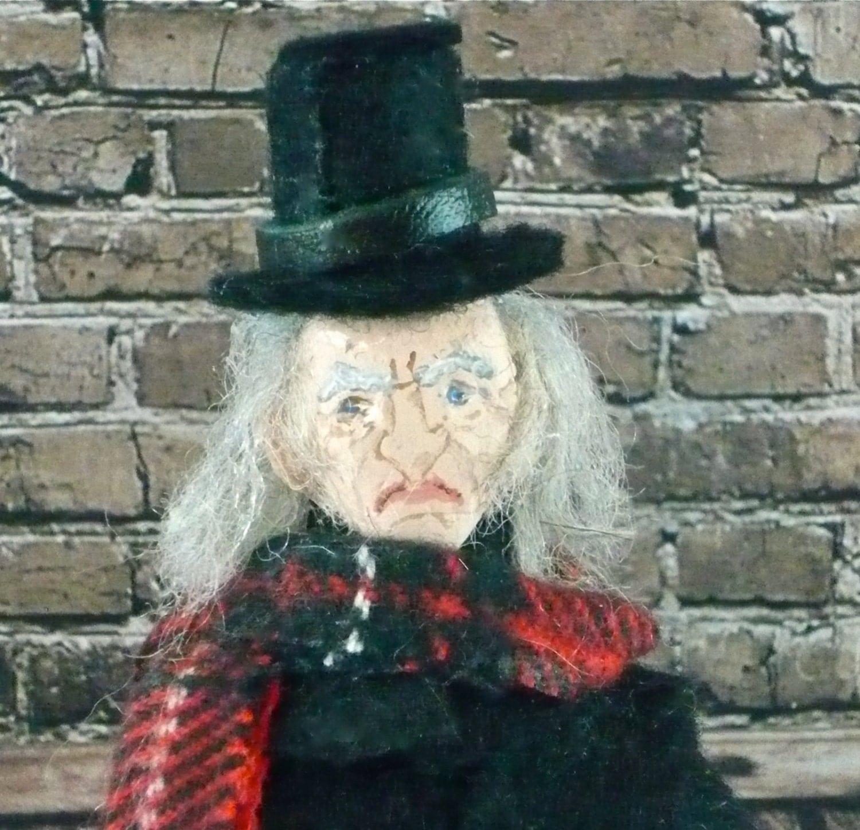 Ebenezer Scrooge Doll Miniature Charles by UneekDollDesigns