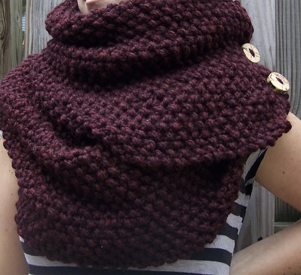 manchester - a super long chunky handknit cowl