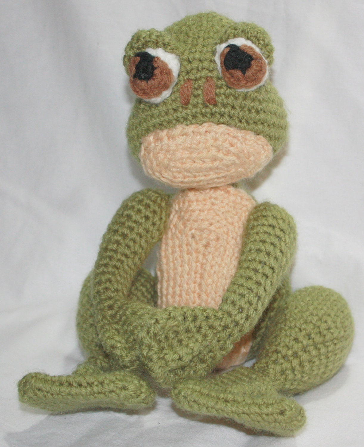Crocheting Stuffed Animals : Crochet Frog Stuffed Animal Plush Toy by SistersBoutique2 on Etsy