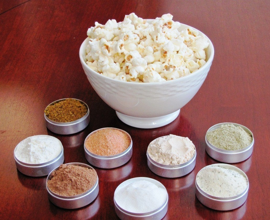 Gourmet Popcorn Spice Kit - also makes great flavored pretzels