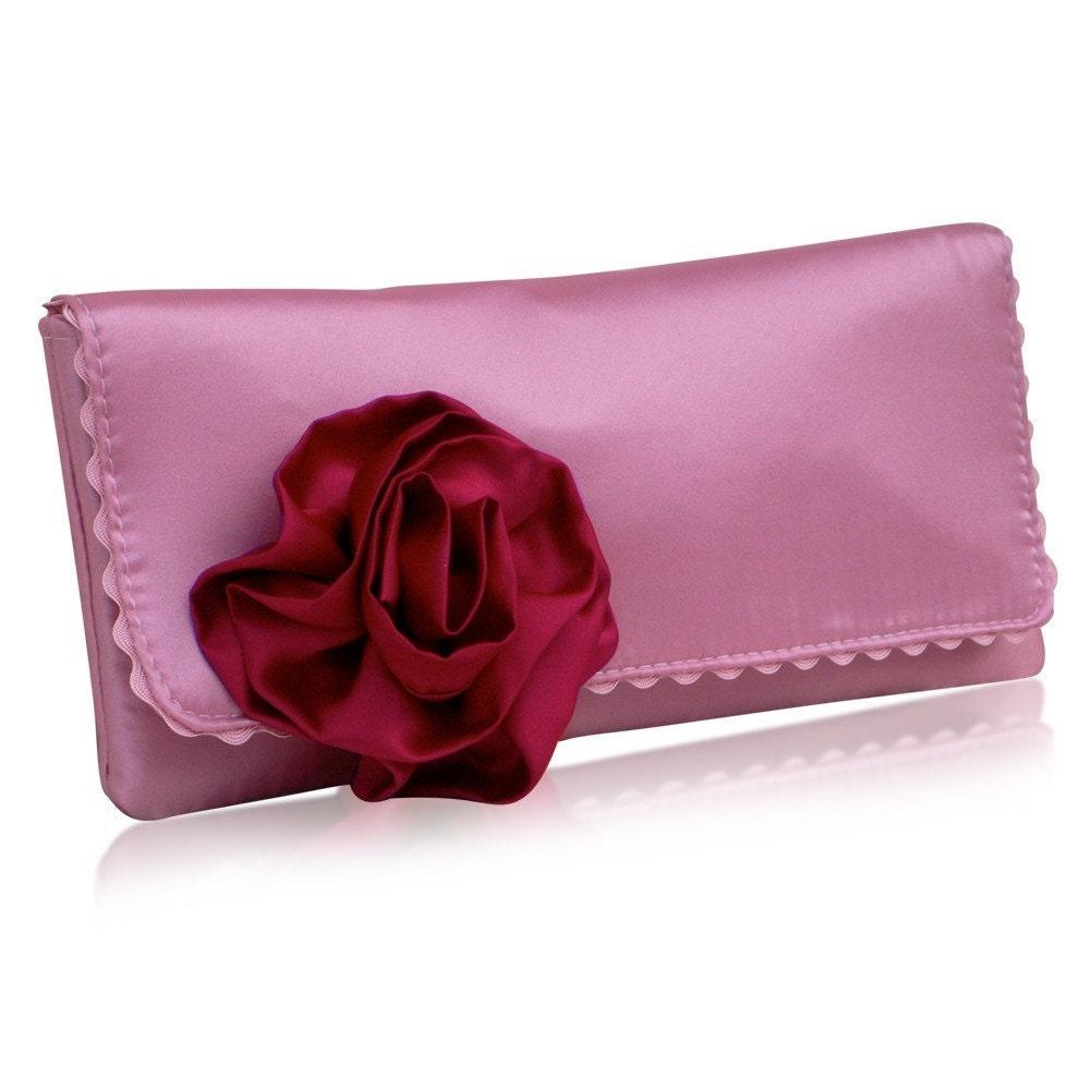 EmmaGordon Georgia pink/ruby clutch