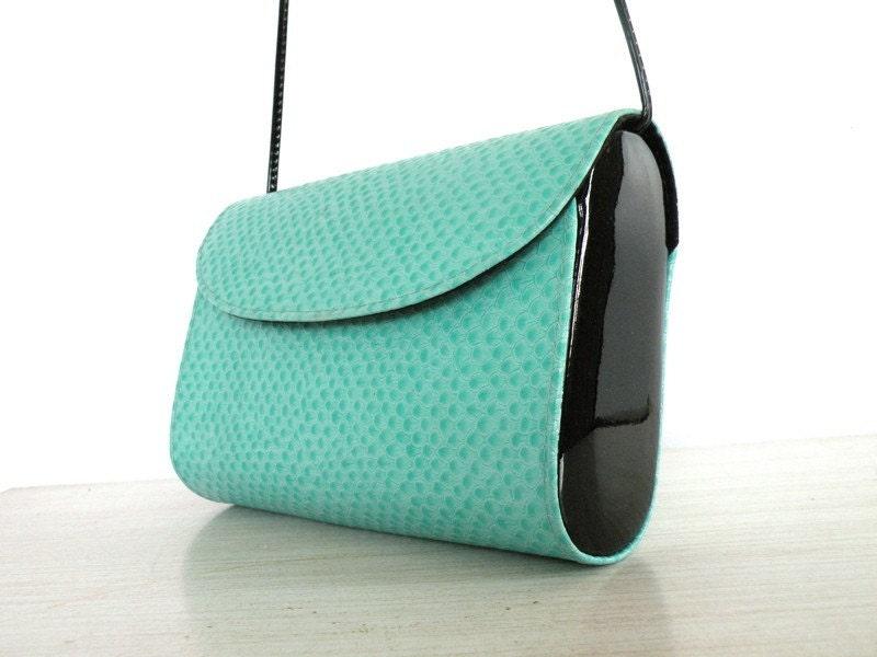 AQUA NET  Lizard Shoulder Bag Vintae Designer Robert Bestien