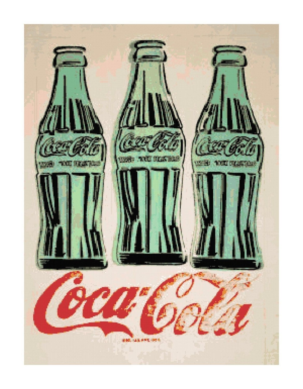 vintage retro coca cola ad cross stitch pattern chart ebay. Black Bedroom Furniture Sets. Home Design Ideas