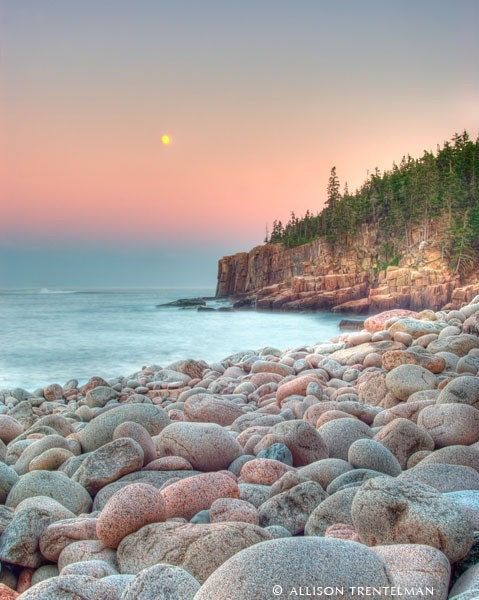 Moonrise - 8x10 Maine Landscape Photography Print - Wall Art