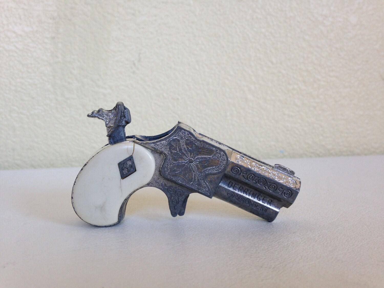 Vintage Hubley Miniature Derringer Toy Cap Gun By Nvmercantile