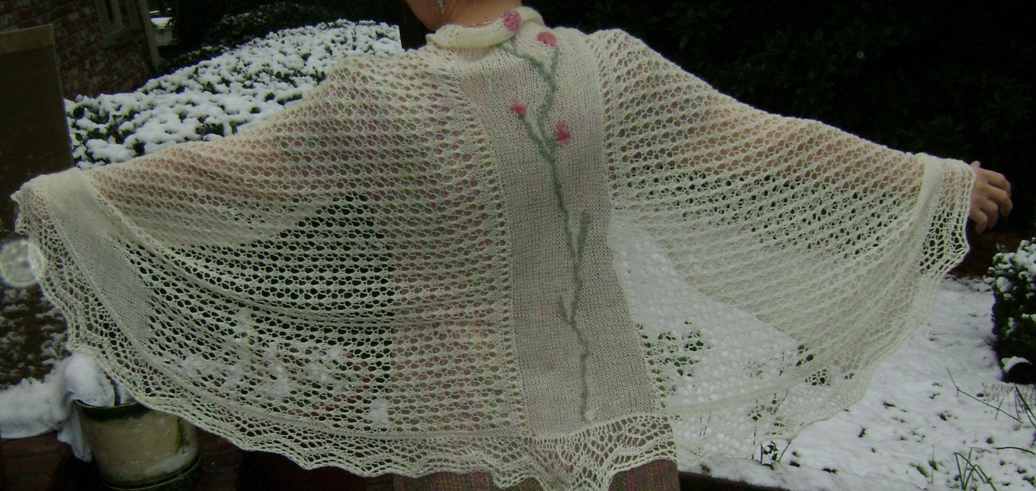 Knitting Patterns Central : KNITTING PATTERNS + LACE + FLOWER   FREE KNITTING PATTERNS