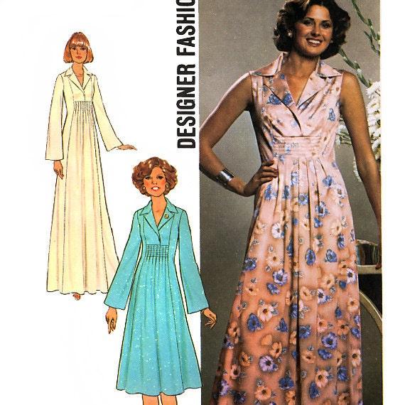 Simplicity 7794 designer fashion vintage 70s misses dress in two