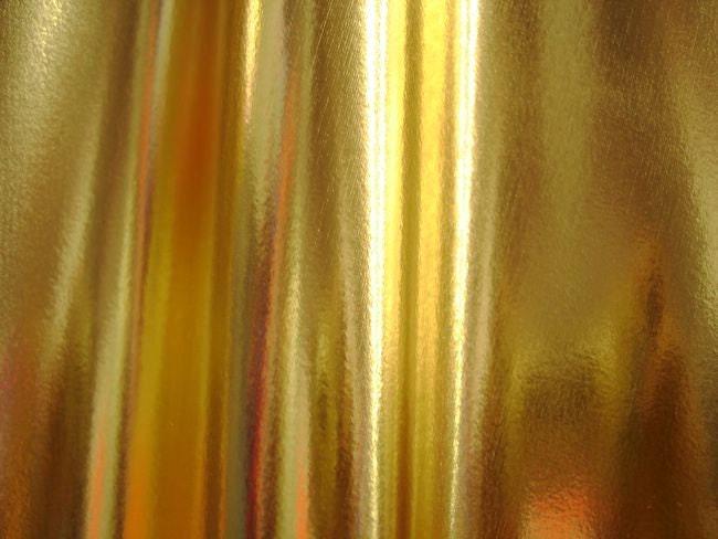 Gold metallic 4 way stretch spandex fabric 3 x by - Fabric that looks like metal ...