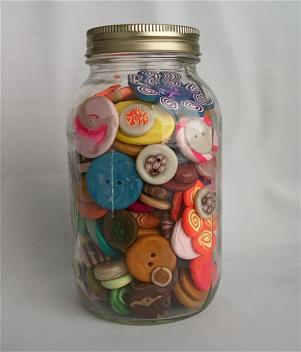 Grandma's Jar of Handmade Buttons