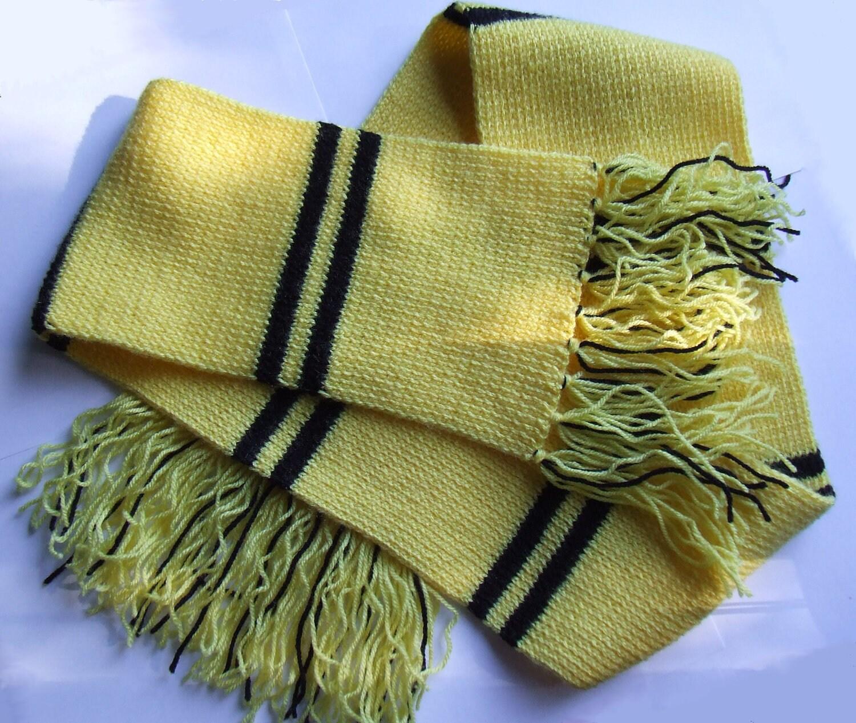 Harry Potter Hufflepuff Scarf Knitting Pattern : Harry Potter Scarf Hufflepuff by ceefax on Etsy