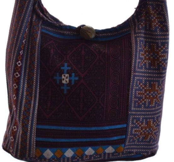 Girls shoulder bag Small Hobo bag Hippy Sling Boho Gypsy Hippie purse Hobo sling bag Thailand Thai bag