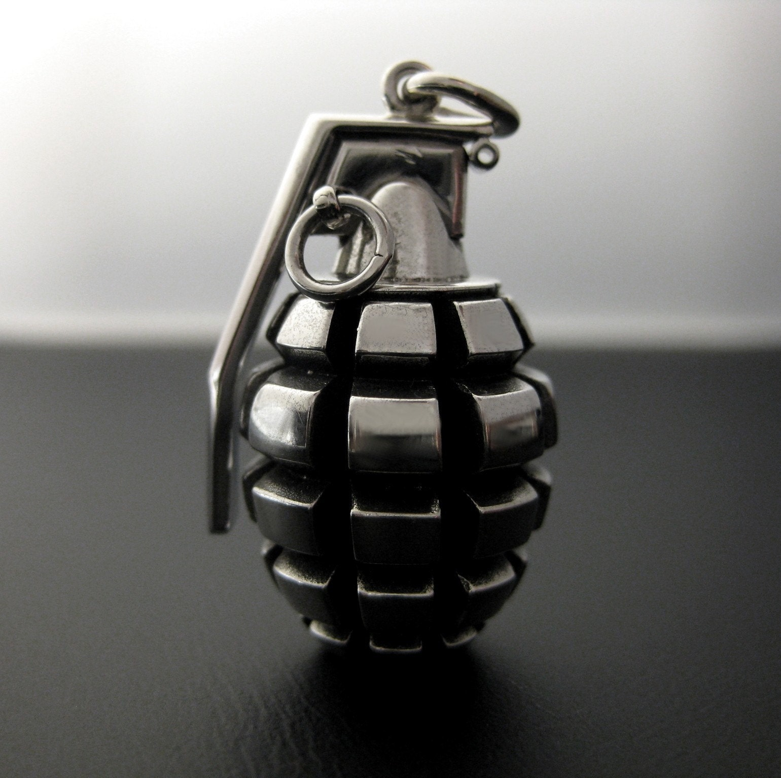 grenade necklace by whitemetal on etsy