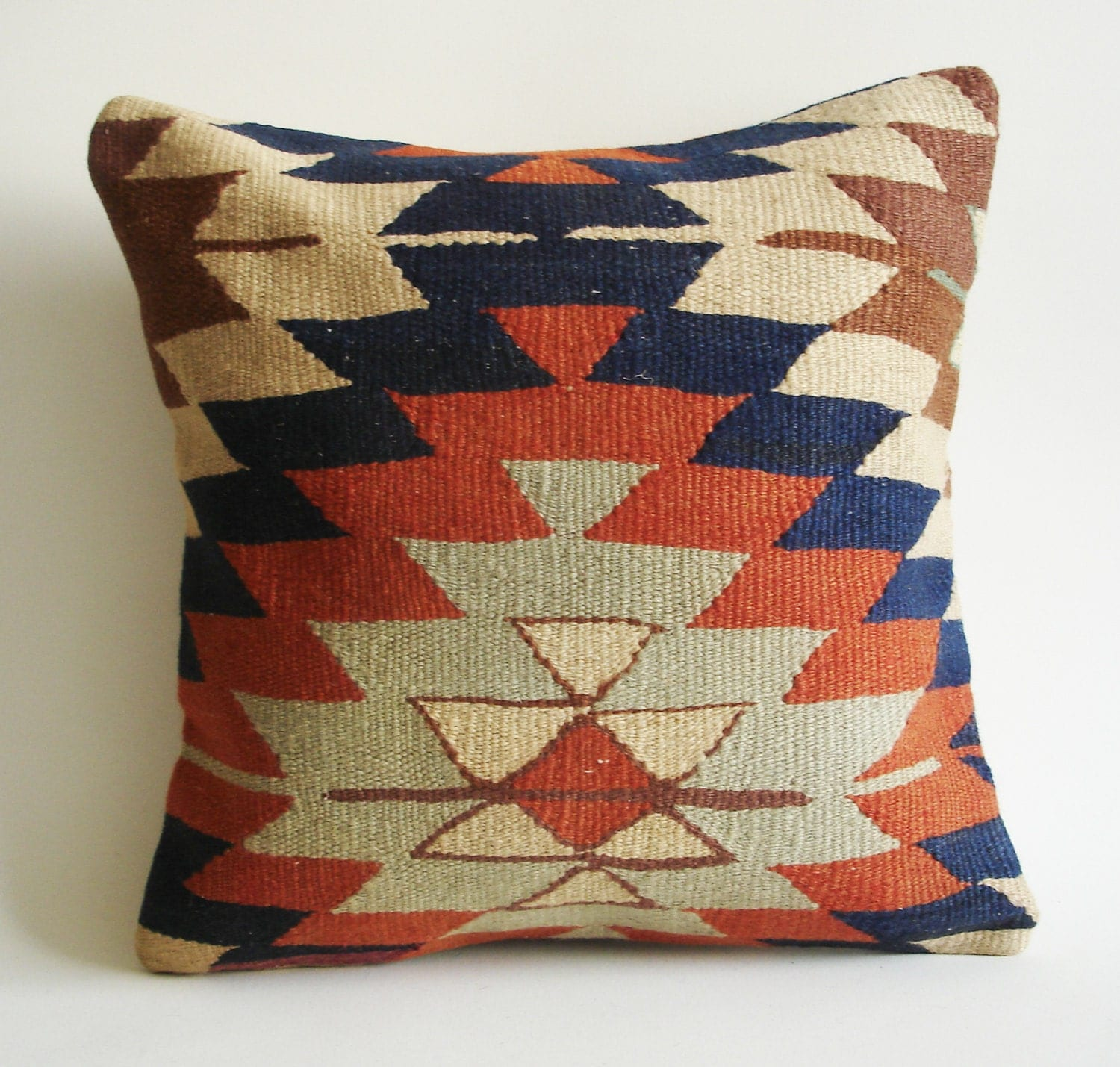 Turkish Kilim Throw Pillows : Sukan / Handwoven Vintage Turkish Kilim Pillow Cover by sukan