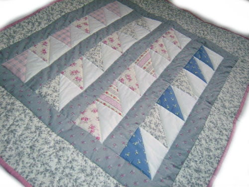 Spring flowers baby quilt