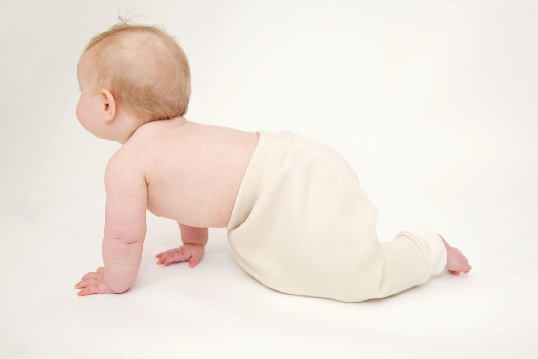 Longies / harem pants - baggy baby pants - organic wool pants - wool longies - cream - woolies - lanolin - rebourne