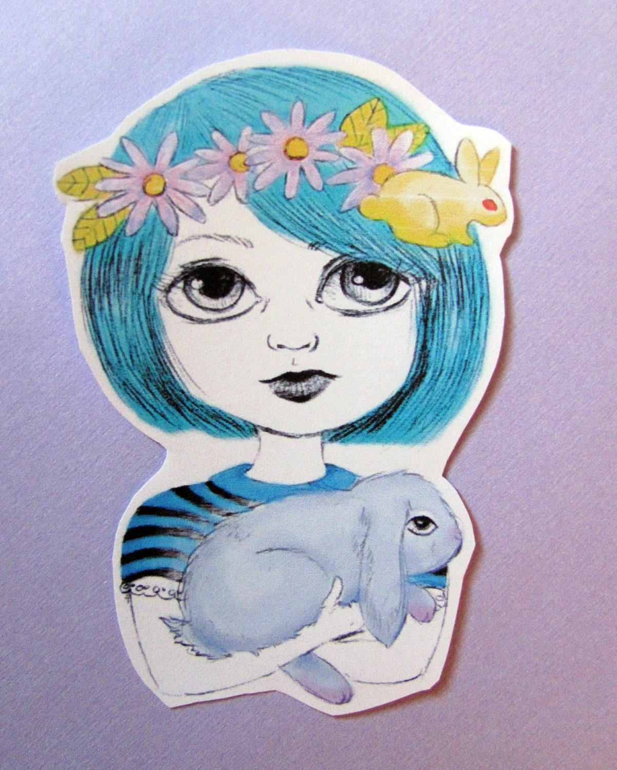 Queen of Rabbits Sticker
