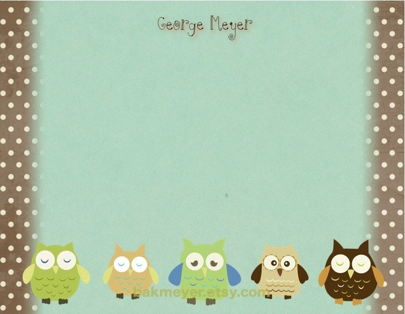 Owl Stationary Collection