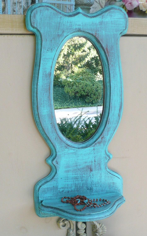 Mexican Farmhouse Mirror with Shelf