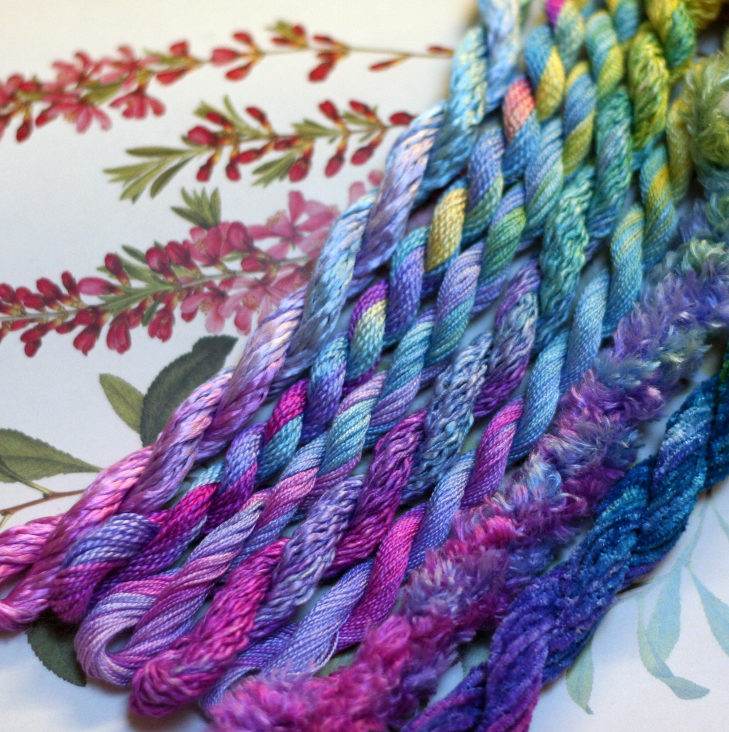 Silk Embroidery Thread For Needlework Embroidery By SpiralDyed