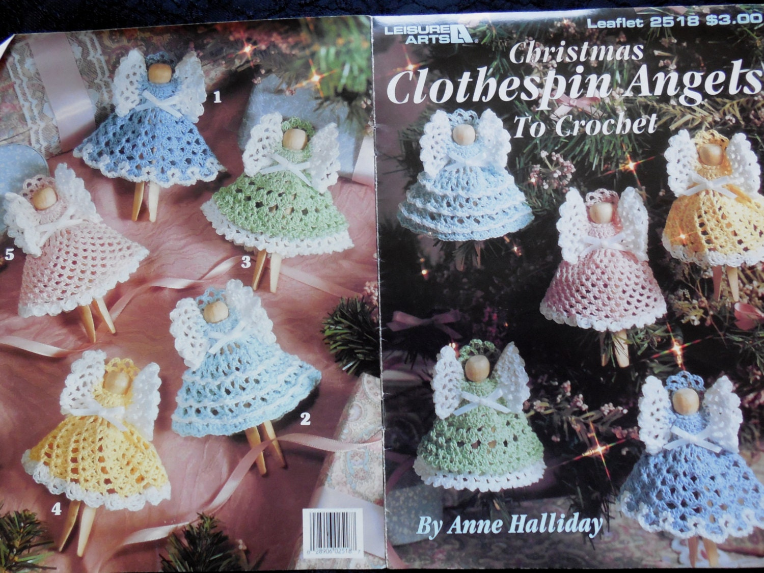 Christmas Crochet Clothespin Angels Tree Ornaments by valzays
