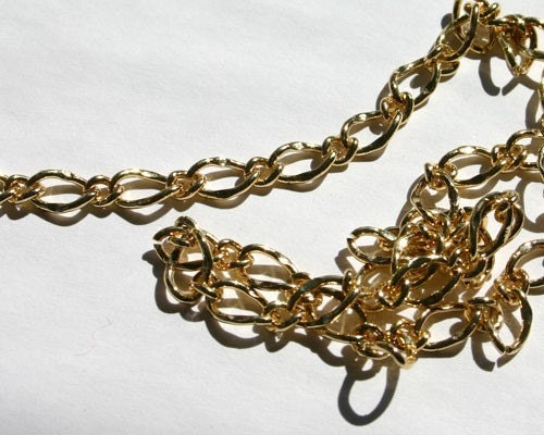 Craft chain 5 feet gold plated brass 9x6mm by sbbeadsandcrafts for Craft chain by the foot