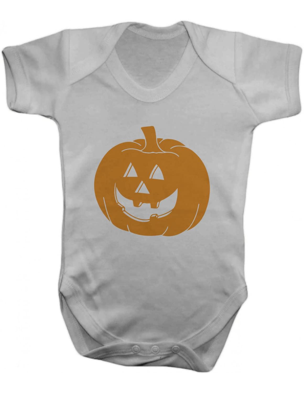 Halloween Pumpkin Baby Bodysuit   VestBaby GrowBaby One PieceBaby ClothesBodysuit100 Cotton  Silkscreen