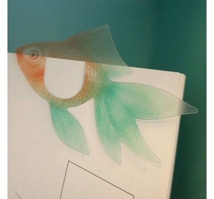 Translucent  Gold Fish  Bookmark