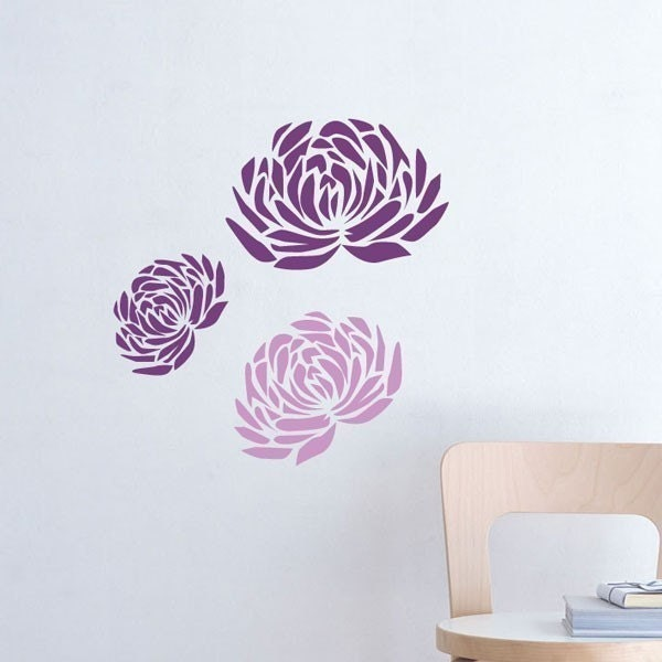 Small peonies Flower Decal