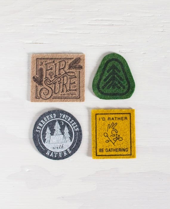 Screen Printed Nature Patches - SlideSideways