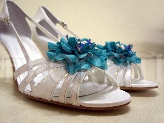 Something Blue Bridal Shoe blue shoes wedding nautical