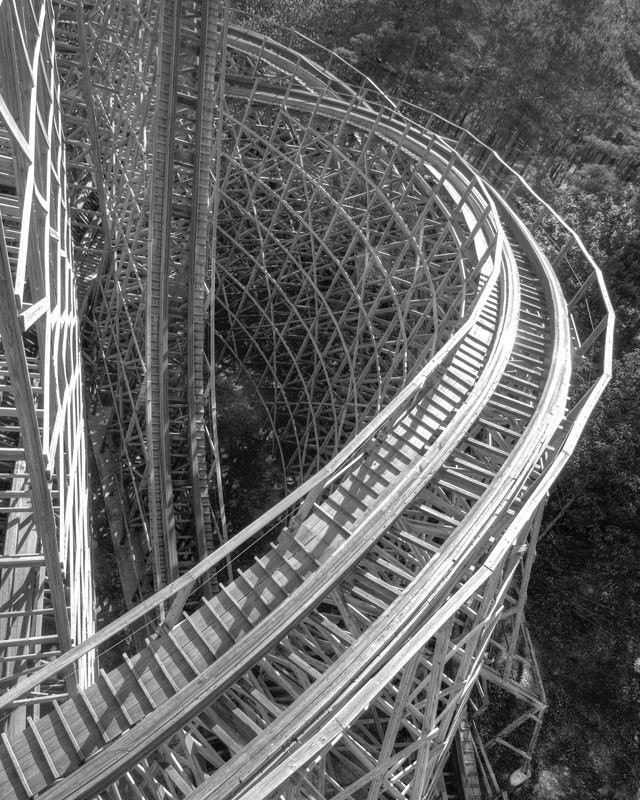 Roller Coaster Coloring Page #5