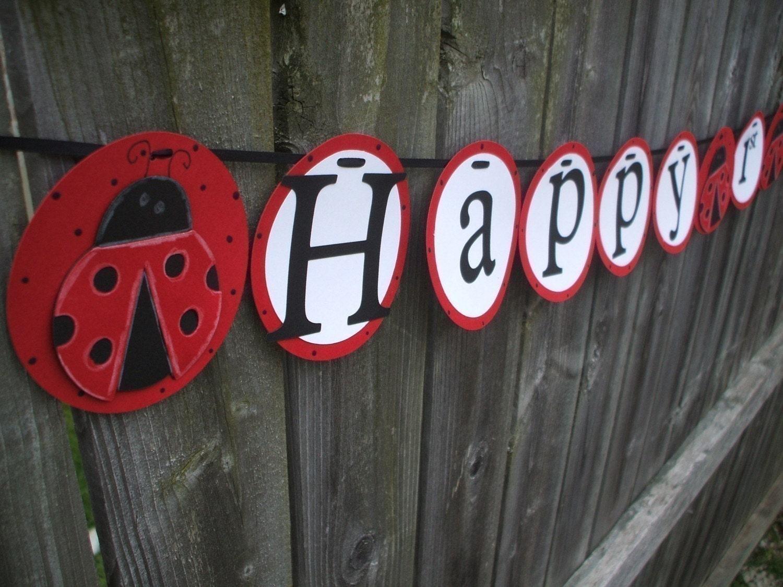 Ladybug Birthday Banner