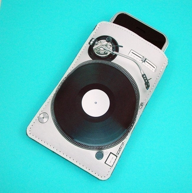 Record Player Turn Table Music Gadget Case - Fits iPhone itouch Cell Phones and more
