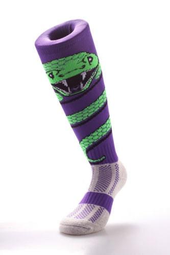 Samson Snake Wrap Funky Socks Sport Knee High Sport Football Rugby Soccer