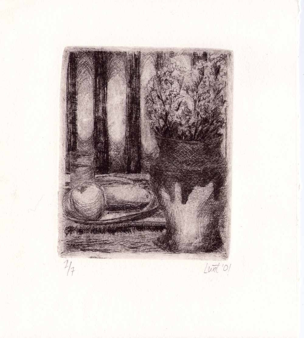 Still Life of a Flowers in a Vase Intaglio