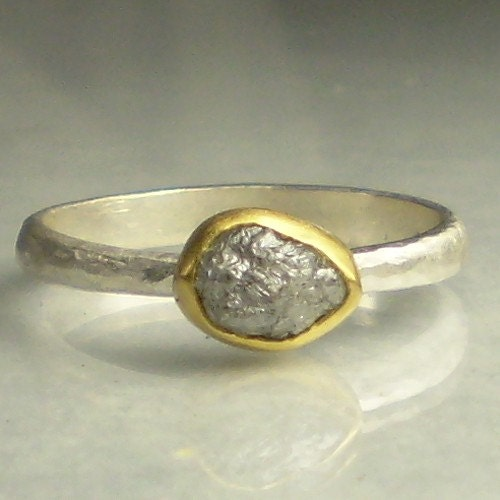 natural rough diamond ring by janish jewels - Non Diamond Wedding Rings