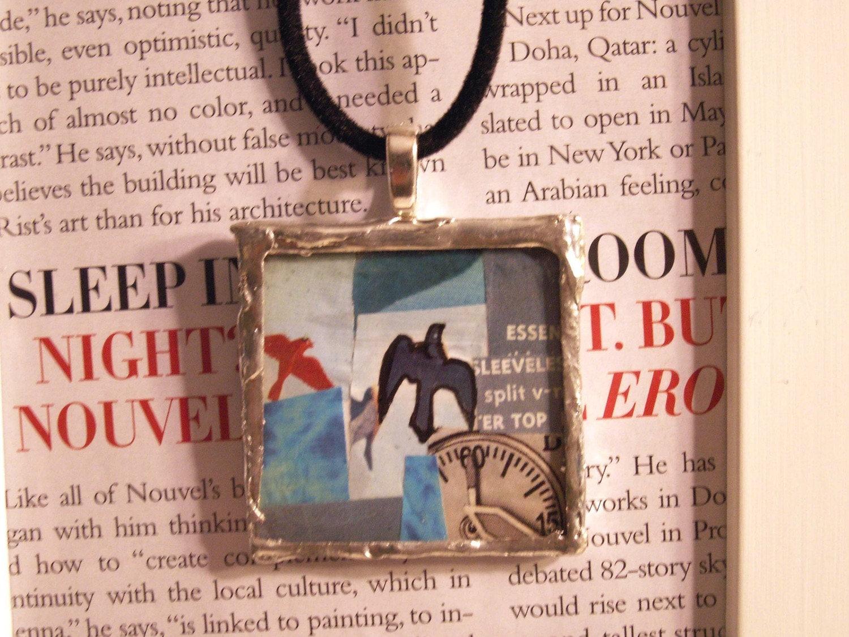 Синяя птица Collage - Ожерелье