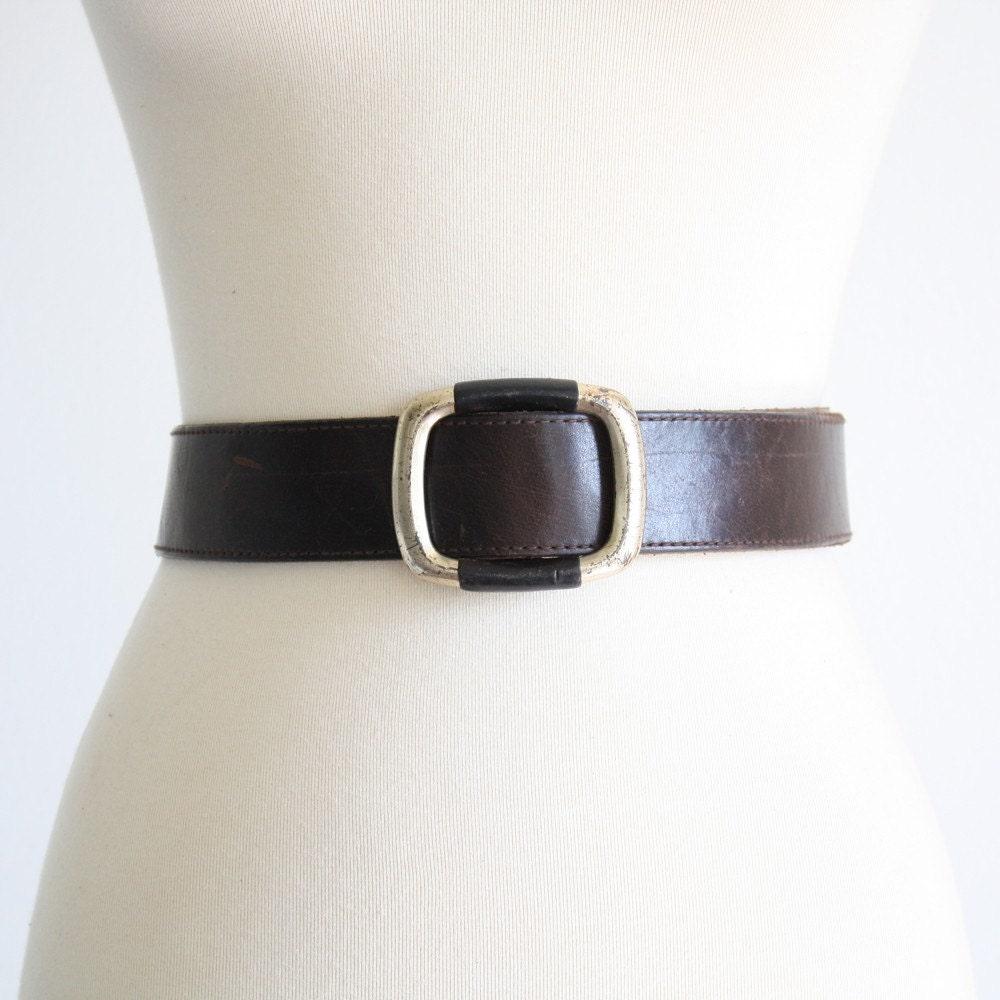 Vintage Simple Buckle Leather Belt