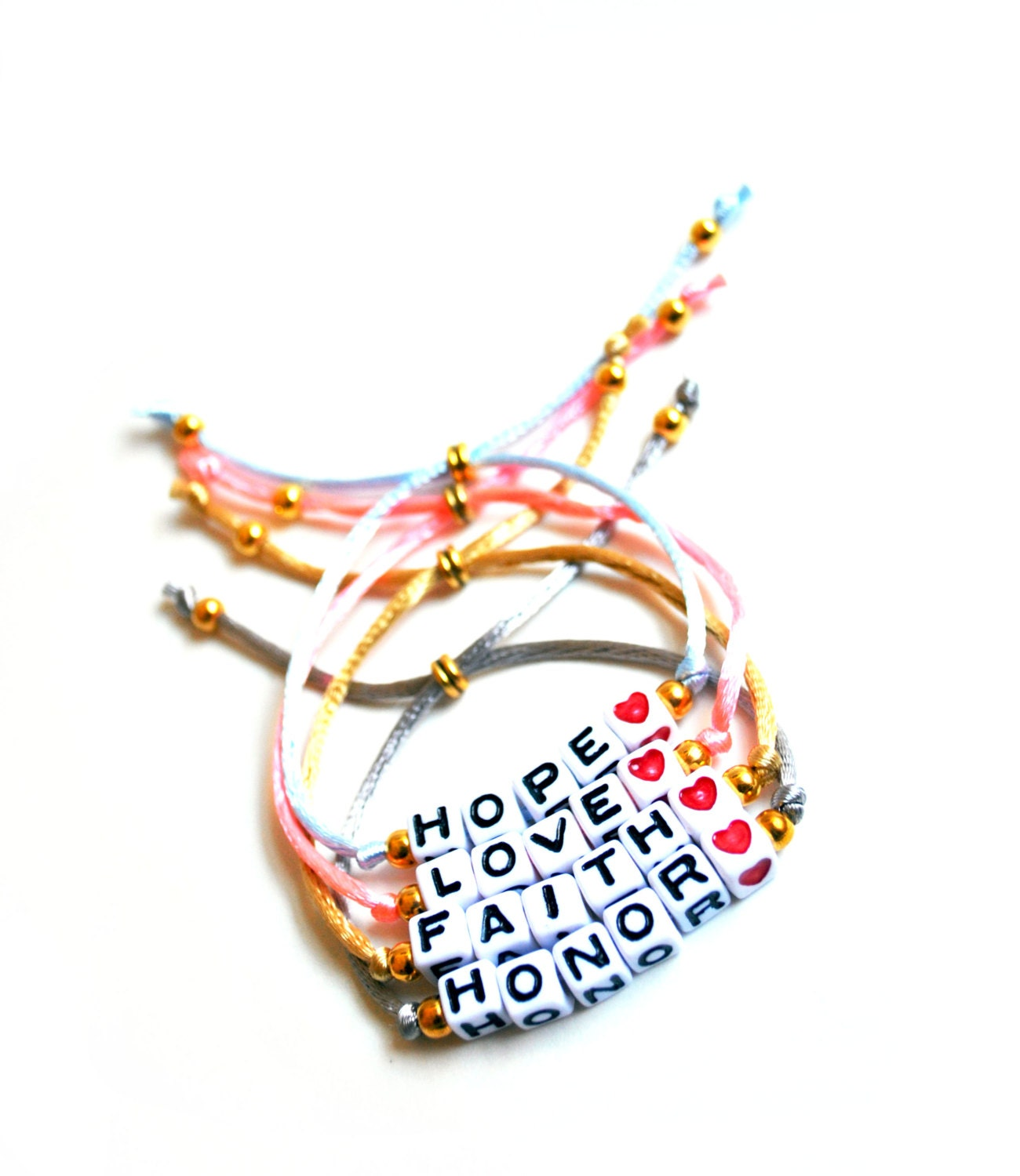 alphabet beads word name adjustable bracelet by knotsofancy With bracelets with letters on them