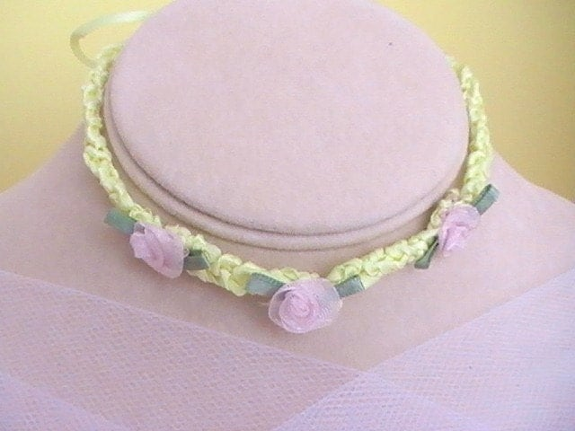Childrens Ribbon Necklace - Flower Girl
