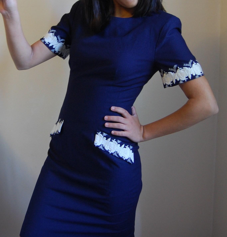 Vintage INDEPENDENCE Blue Dress SALE