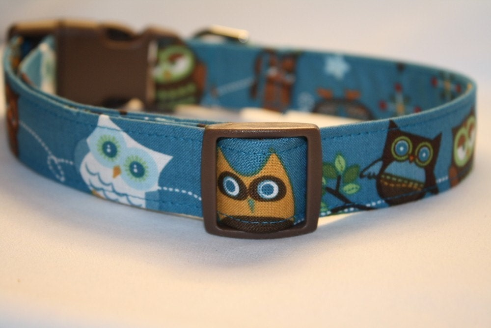 FREE US SHIPPING-ADJUSTABLE CUSTOM DOG COLLAR- What a Hoot