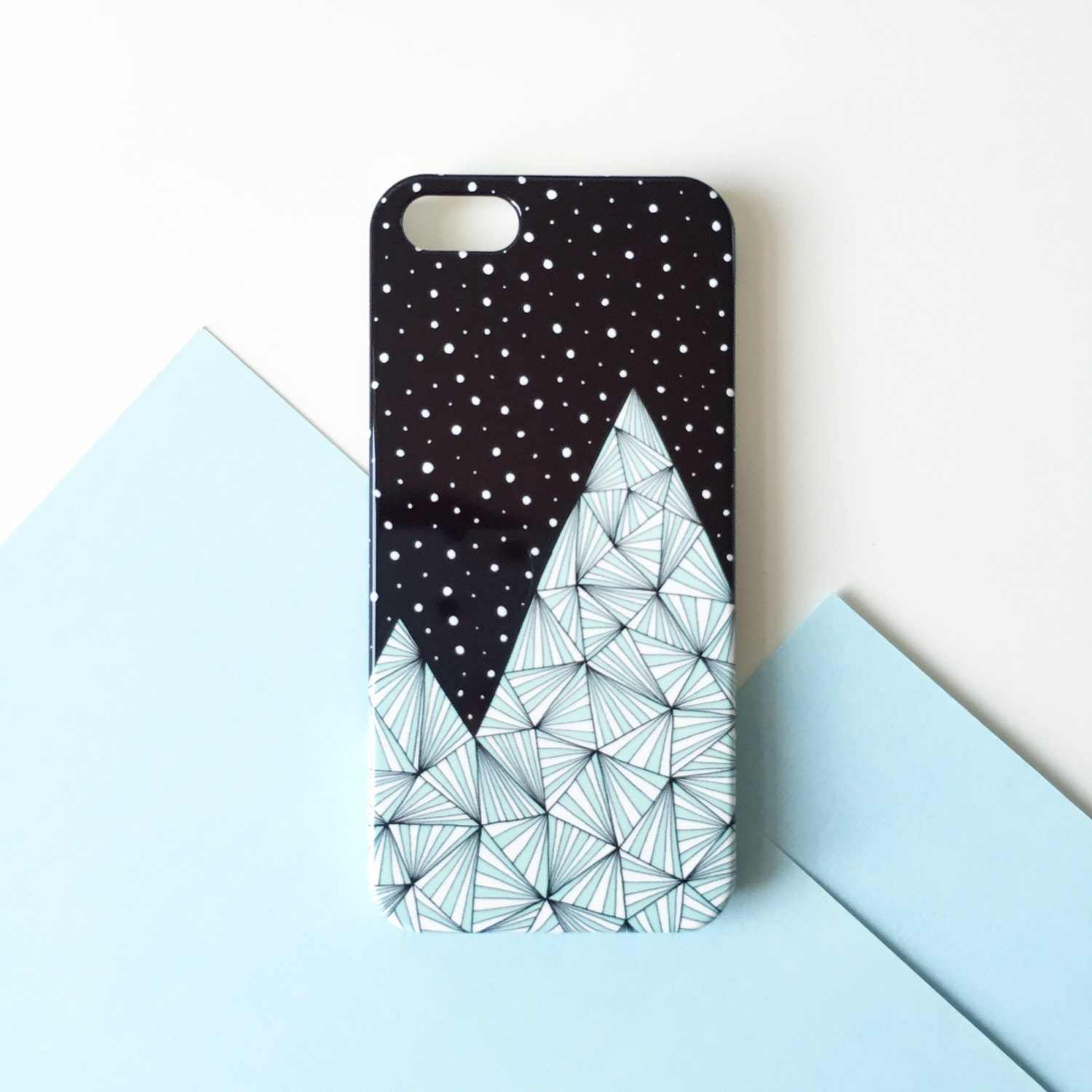 Blue Mountain mobile phone case  mountain iPhone 7 iPhone 6 iPhone 6S iPhone SE iPhone 5 iPhone 5s iPhone 5C  illustrated phone case