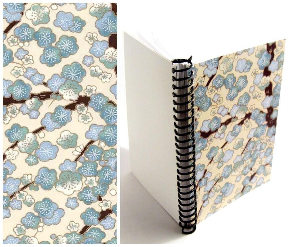 Blue Blossoms - Spiral Notebook - 5 x 7 - stationeryCiaffi